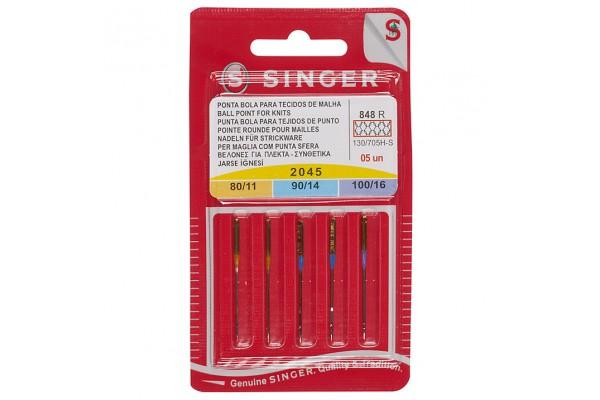 Singer - Knit Fabric Machine Sewing Needles (Ballpoint)
