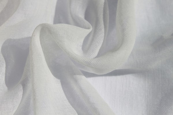 Butter Muslin - White 100% Cotton - 90cm
