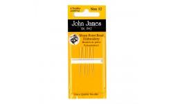 John James Needles - Sharp Point Bead Embroidery - Size 12