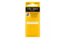 John James Needles - Ball Point Bead Embroidery - Size 12