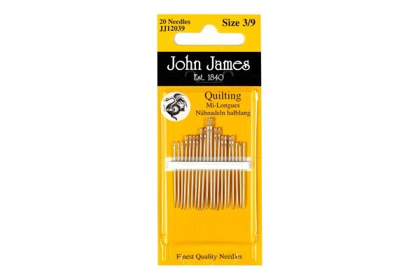 John James Needles - Quilting Needles Sizes - assorted 3/9, assorted 5/10, single size 7, single size 10