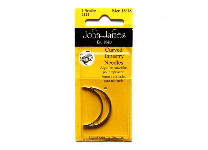 John James Needles - Curved Tapestry Needles - Size 16/18 and Size 20/24