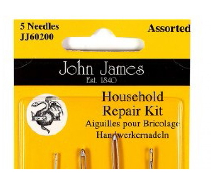 John James Needles - Household Repair Kit - Assorted shapes and sizes