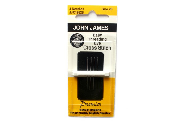 John James Needles - Easy Threading Eye Cross Stitch Needles
