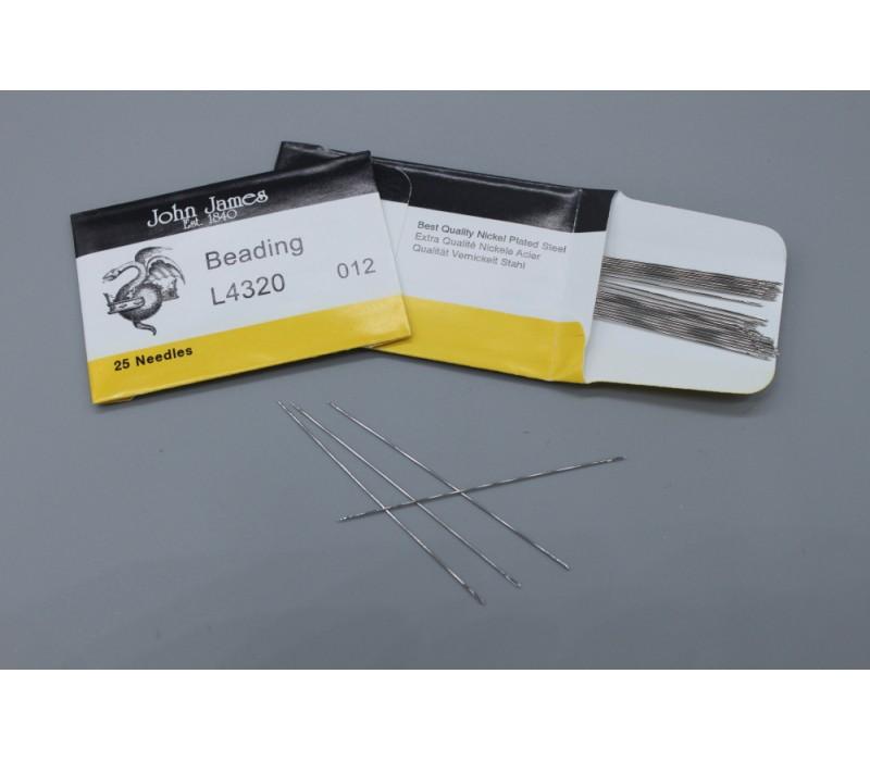 John James Needles - Beading Needles - Bulk Envelope - Size 12