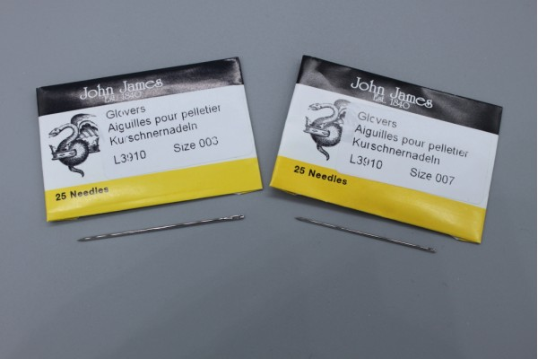 John James Needles - Glovers / Leather Needles - Bulk Envelope ; Size 3 or 7