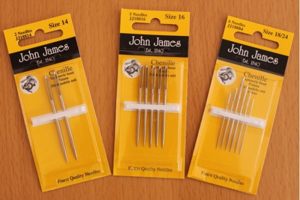 John James Needles - Chenille Needles - Various Sizes