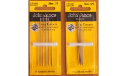 John James Needles - Long Darners - Various Sizes