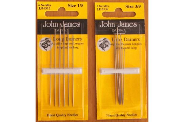 John James Needles - Long Darners - Various Sizes