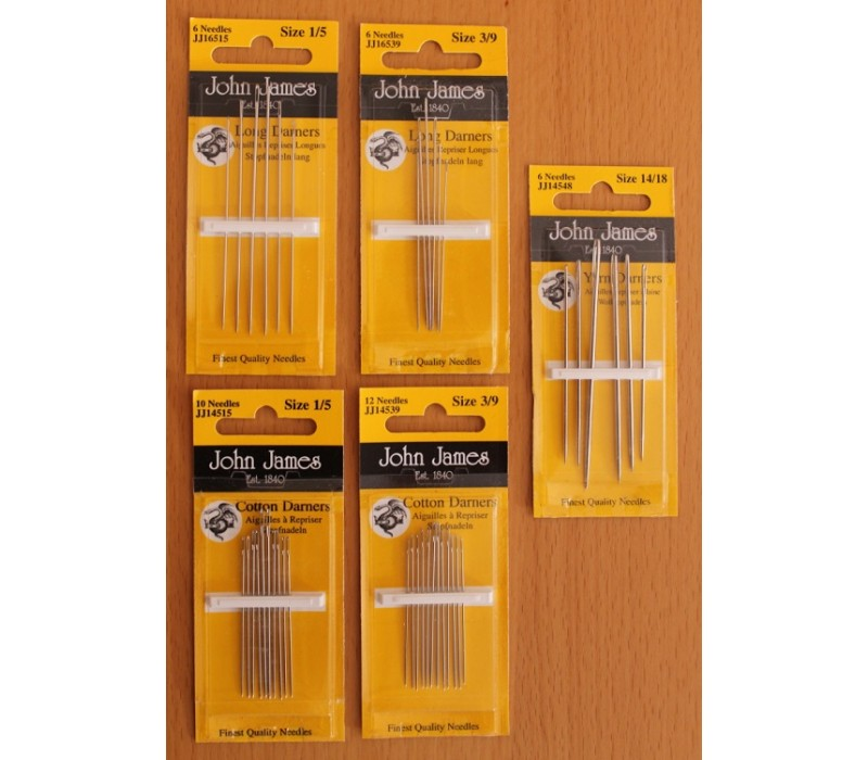 John James Needles - Cotton Darners - Various Sizes