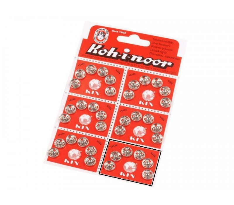 Metal Snap Fasteners - Size 1