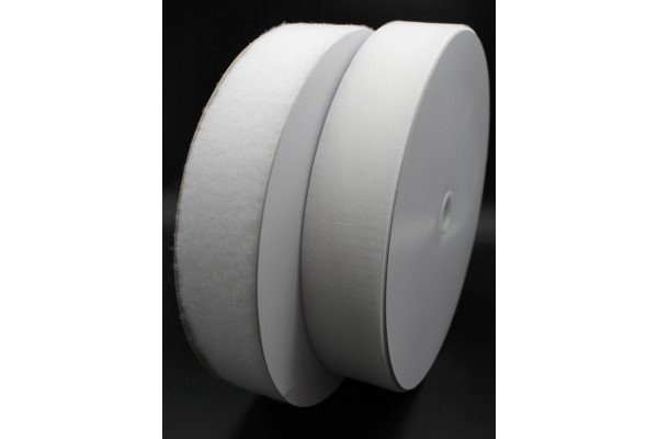 Nylon Black or White Hook and Loop fastener in reels - 50 mm