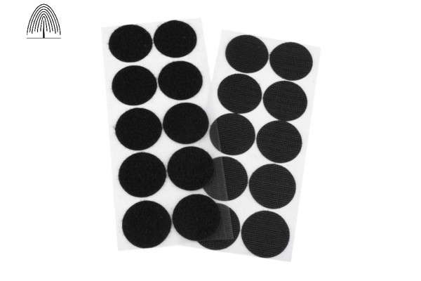 Nylon Hook and Loop Self-Adhesive Circles - 35 mm.
