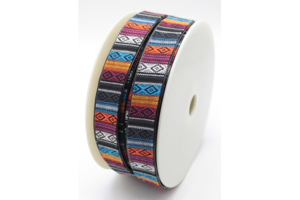 Coloured, Lined Webbing - 25mm.