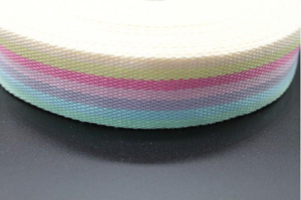 Pastel Stripe Webbing - 40mm