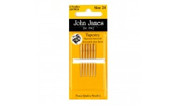 John James Needles - Tapestry/Cross stitch Needles - Sizes 18/24 or 24/26