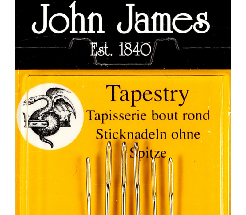 John James Needles - Tapestry/Cross stitch Needles - Various single size packs (13, 14, 16, 20, 24, 28)