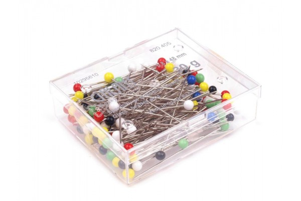 Galant Glass Head Pins - Large Type
