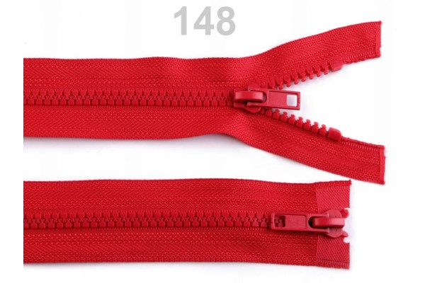 "Plastic Two-way Zip for Jackets - 65 cm (25.5"") - Coloured"