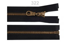 "Metal Brass Zip for Jackets - 70 cm (27.5"")  : (Black or Brown)"