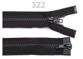 """Plastic Two-way Zip for Bags, Jackets - 55 cm (21.6"""") : (Black)"""