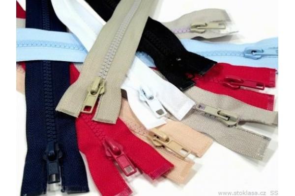 "Plastic Zip for Jackets - 60 cm (23.7"") - Coloured"