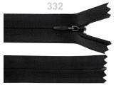 Invisible Nylon Zip - 25cm : (Black)