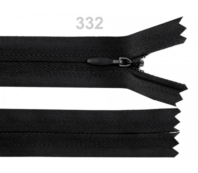 Invisible Nylon Zip - 60 cm : (Black or White)