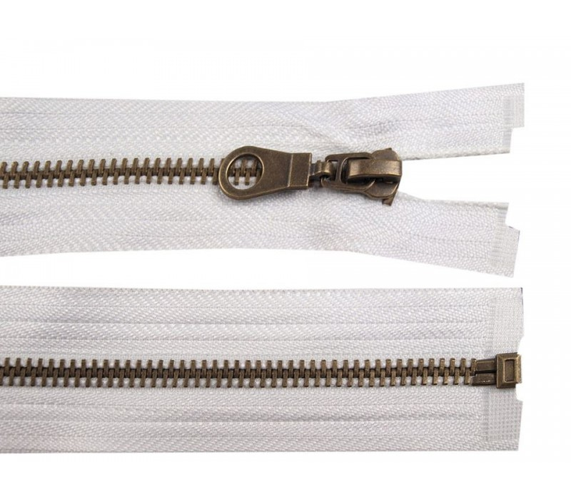 "Metal Brass Zip for Jackets - 70 cm (27.5"")  : (Black or Brown)"