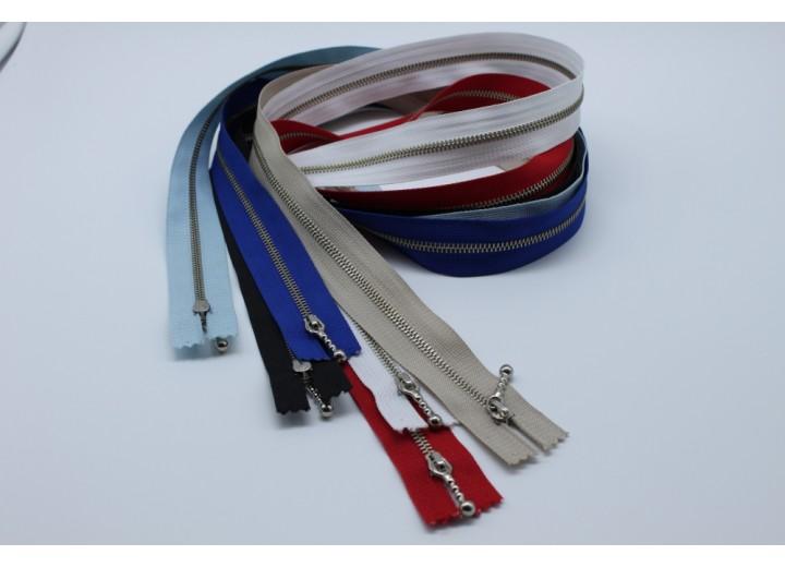 """Metal Zip - Open End, Nickel Single Slider, 60 cm (23.6"""")"""