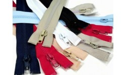 "Plastic Zip for Jackets - 65 cm (25.5"") -  Assorted Colours"