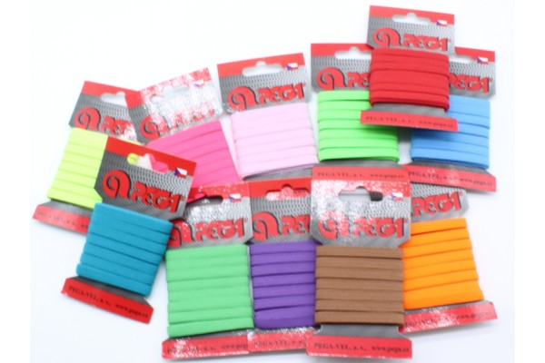 Flat Coloured Elastic - 6.6 mm - 5 m on Card