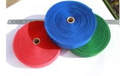 "Flat Woven Blue, Green or Red Elastics - 50mm (2"")"