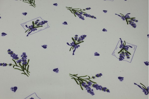 Cotton Fabric, Floral Sprig - Natural