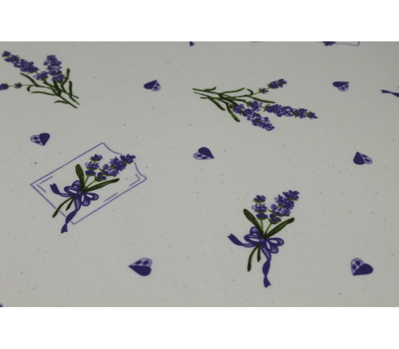 Cotton Fabric, Lavendula - Natural