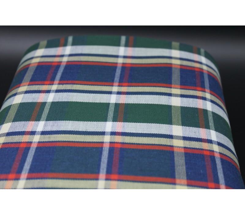 Jade Woven Check Fabric
