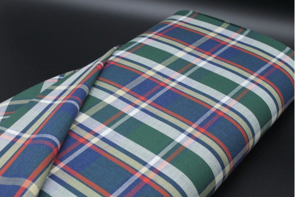 Jade Woven Check Fabric