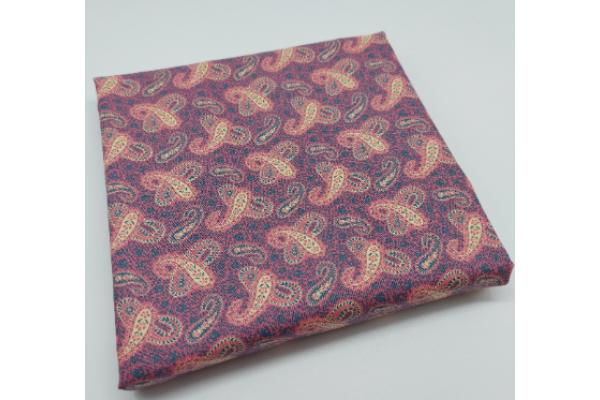 Cotton Fabric, Pink Paisley Pattern