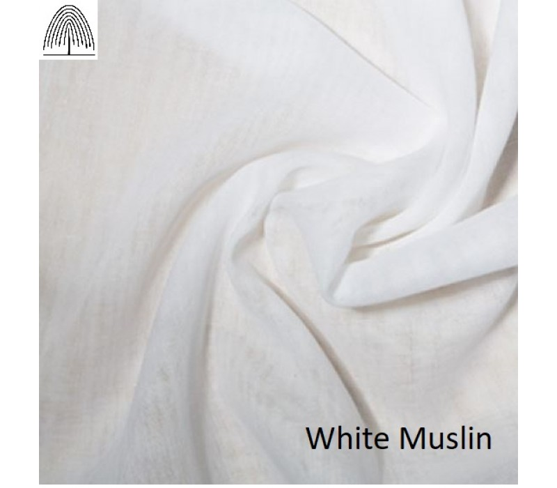 White or Cream Cotton Muslin