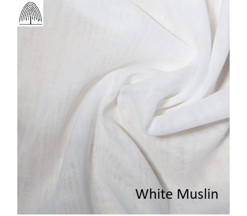 White or Cream Cotton Muslin