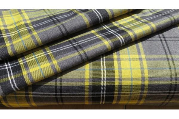 Gold Tartan Fabric