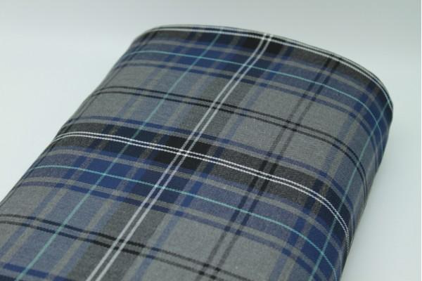 Navy Tartan Fabric