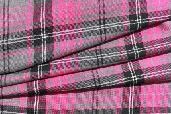 Cerise Tartan Fabric