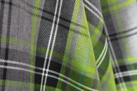 Lime Tartan Fabric