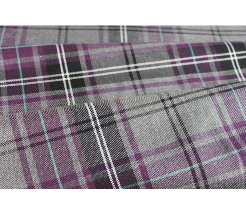Purple Tartan Fabric