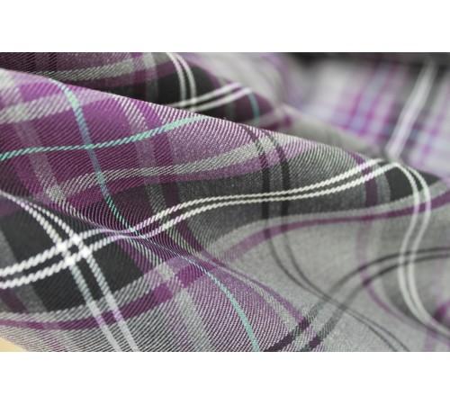 Purple Tartan Fabric