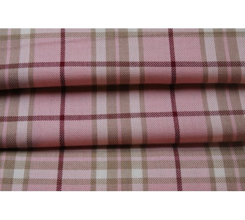 Pink Tartan Fabric