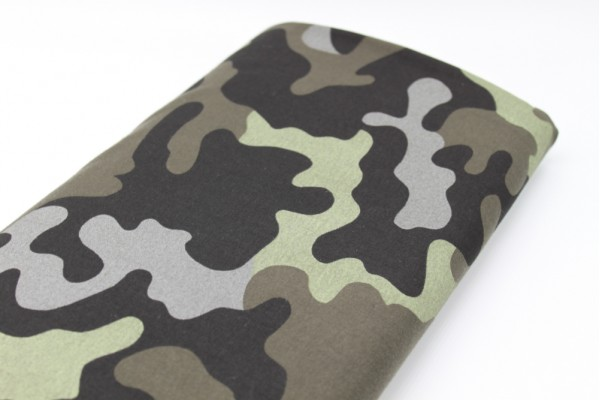 Camouflage Jersey - Grey, Brown, Black, Green