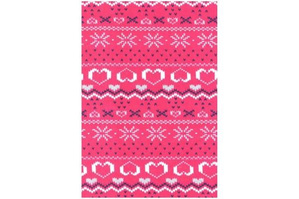 Nordic Print Jersey Fleece Fabric