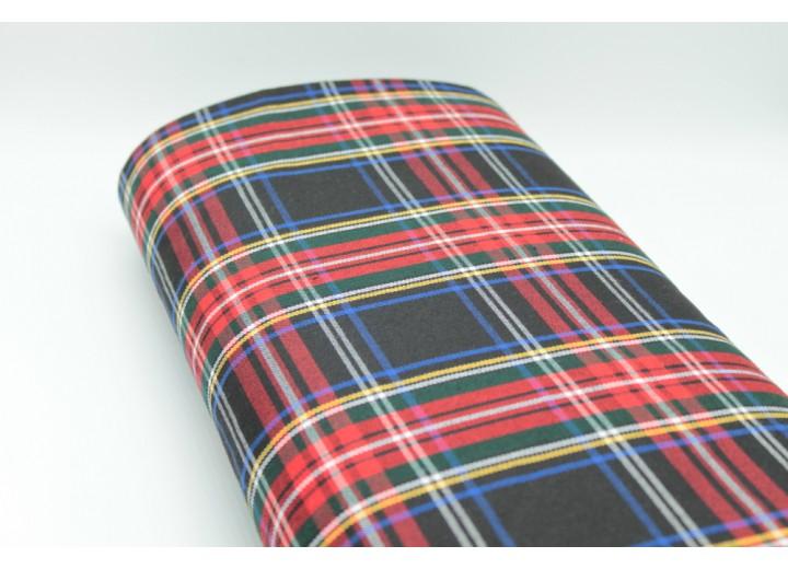 Black Royale Tartan Fabric